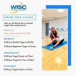 WISC offers FREE Online Yoga classes this week - March 16, 18 & 19