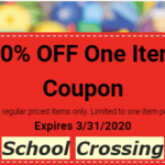 Special 20% off from School Crossing!  And you can order by phone and they will bring it to your car!
