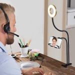 Aduro U-Stream Teleconferencing Phone Holder and Ring light on Sale NOW!
