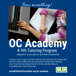 OC Academy K-9th Grade Tutoring Program Now Registering -  One Child Center for Autism