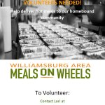 Williamsburg Area Meals on Wheels Needs Volunteers