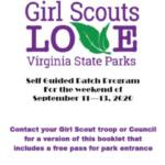 Girl Scouts Love Virginia State Parks - Self Guided Patch Program Sept 11 - 13