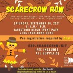 Scarecrow Row- Build Your Own Scarecrow - Pre-register by Sept 10th for the Sept 18th event!