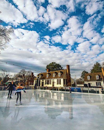 ice skating at colonial williamsburg