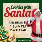 Cookies with Santa in Yorktown at York Hall - Dec. 6, 2020 - FREE and Bring Your Camera!