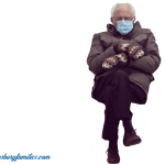 Bernie Sanders Mittens Meme with transparent background for your photo