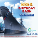 Celebrating the Battleship Wisconsin's 77th birthday, April 16-18!