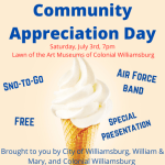 Community Appreciation Day on July 3 - FREE Snow-to-Go, Concert & Special Video Presentation