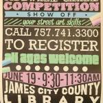 Sidewalk Chalk Competition on June 19, 2021 at the Library!