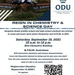 Reign in Chemistry & Science Day at ODU for 6th - 12th graders