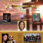 245 Years Anniversary Celebration - The Historic First Baptist Church Oct 9 & 10
