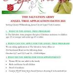 Angel Tree Application Dates announced for Oct 2021 - Salvation Army Serving Williamsburg, JCC & Upper York Counties