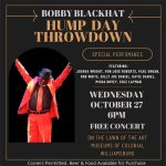 FREE Hump Day Concert with Bobby Blackhat Band -  Wed. Oct. 27 !