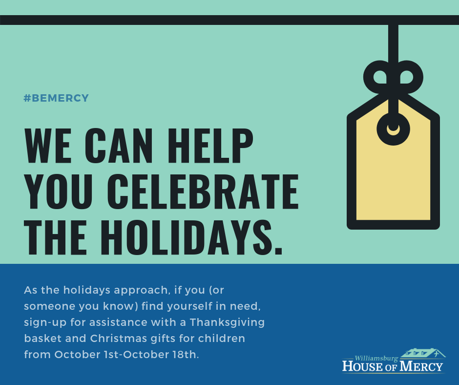 Need assistance for the holidays? – Williamsburg House of Mercy