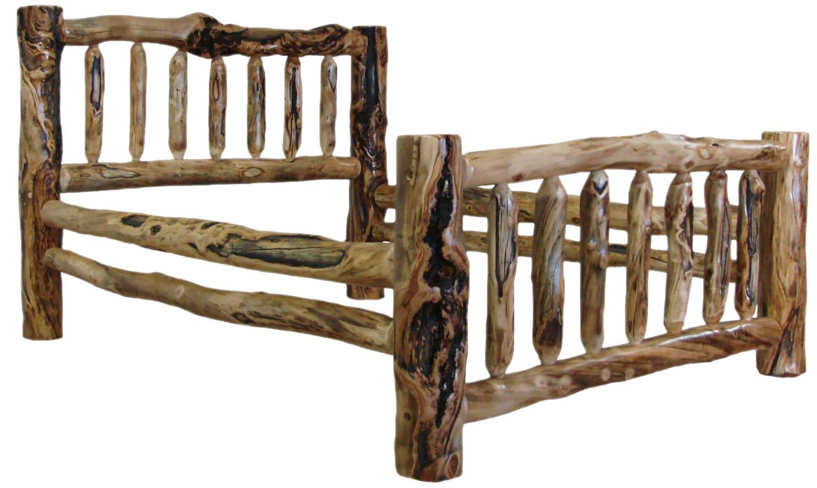 King Size Log Bed Frame