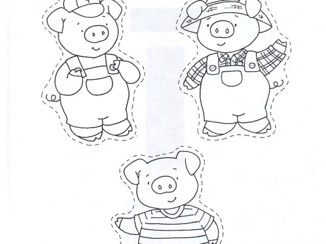 The Three Little Pigs Puppet Templates Three Little Pigs