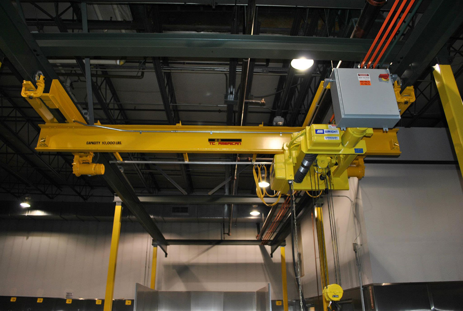 TC/American 5 Top Patented Track Crane with ACCO Wire Rope Hoist