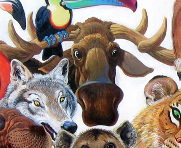 Menagerie – Moose & Wolf Detail