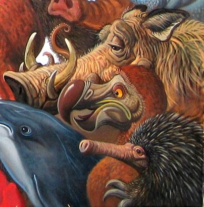 Menagerie – Warthog, Dodo, Echidna Detail