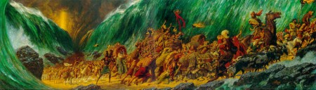 The Parting of the Red Sea by Arnold Friberg