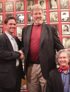 Billy Campbell, Tiny Ron and William Stout (photo by Samantha Holmes)