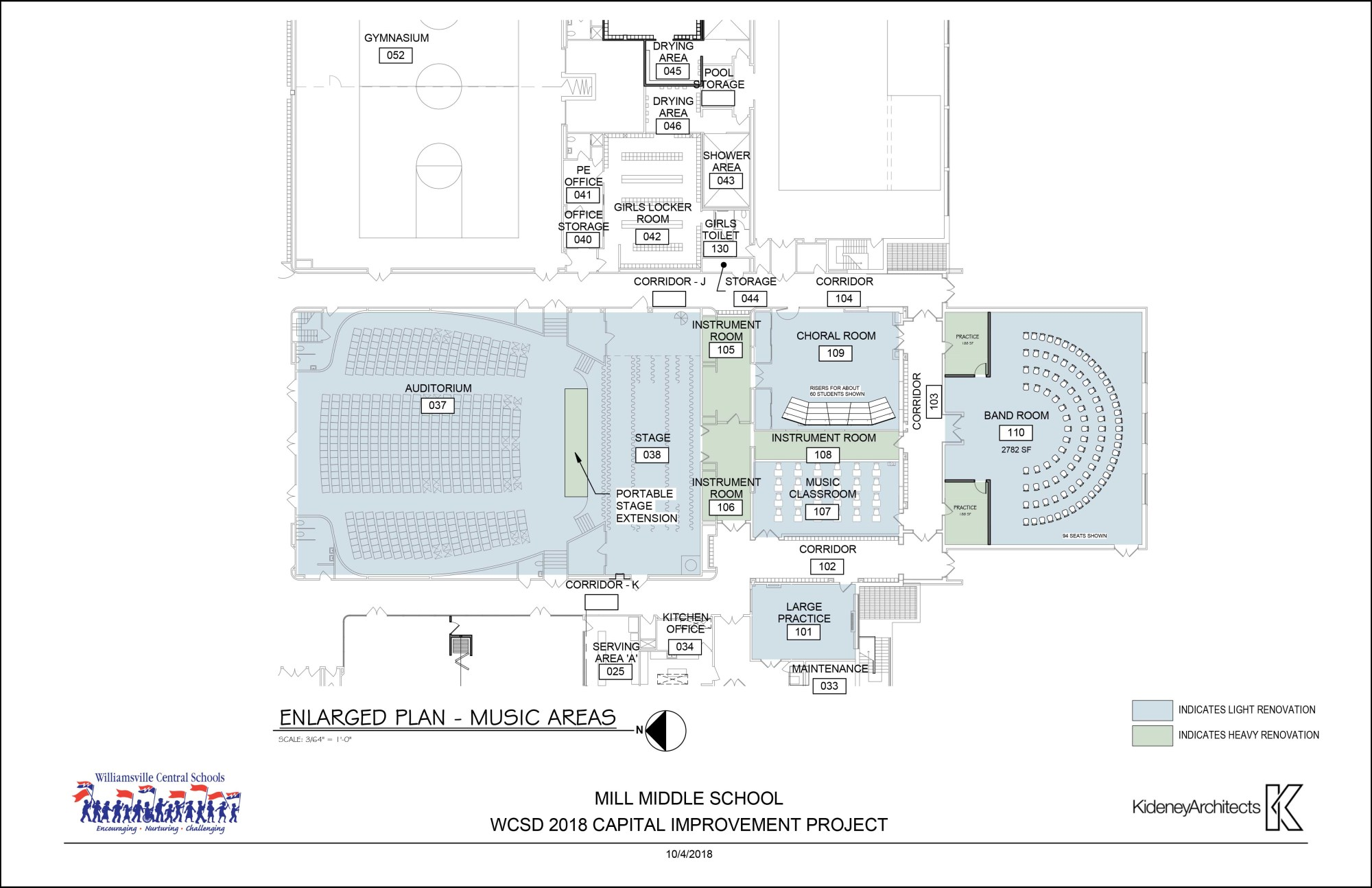 hight resolution of mill middle music department capital project