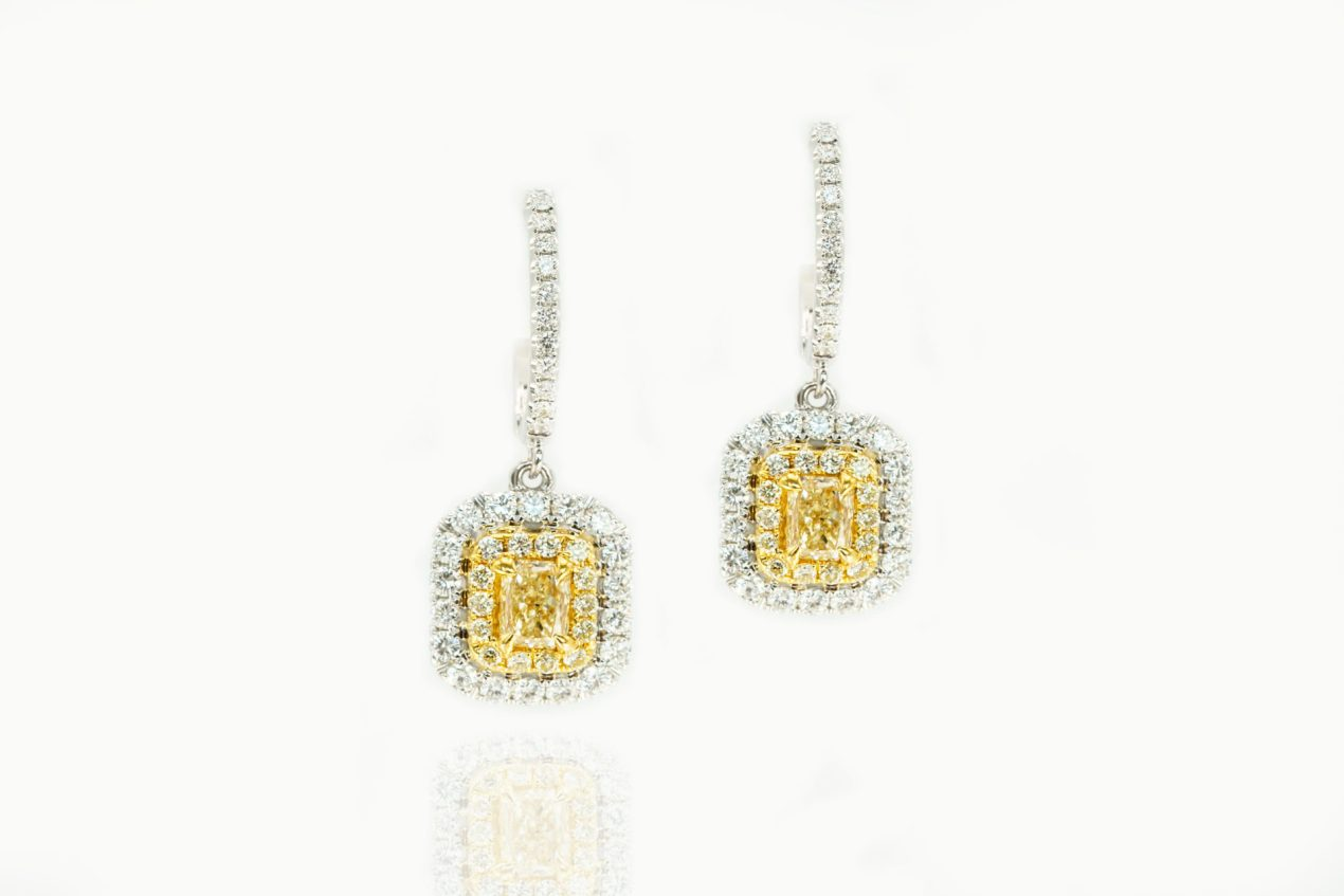 William Thomas Yellow Diamond Earrings