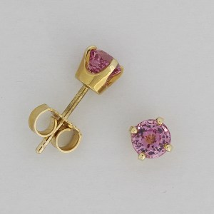 Pink spinel earstuds