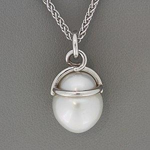 South seas white cultured pearl