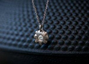 white diamond pendant white gold flower necklace with diamond centre