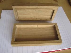 Oak box inside