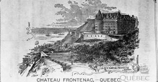 Gravura de 1895 mostrando o recém construído Castelo Frontenac