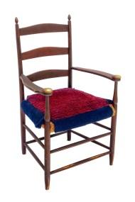 Lot 18: Mount Lebanon Three-Slat Armchair