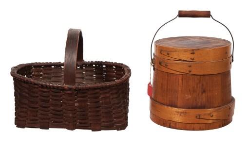 Lot 40: Sap Bucket, Basket and Pail