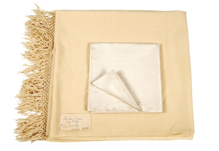Lot 47: Shawl and Kerchief