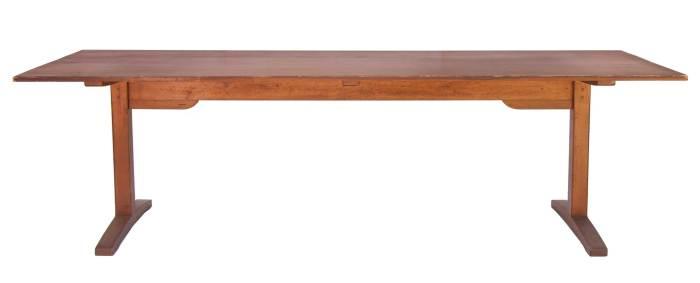 Lot 140: Shaker Style Trestle Table