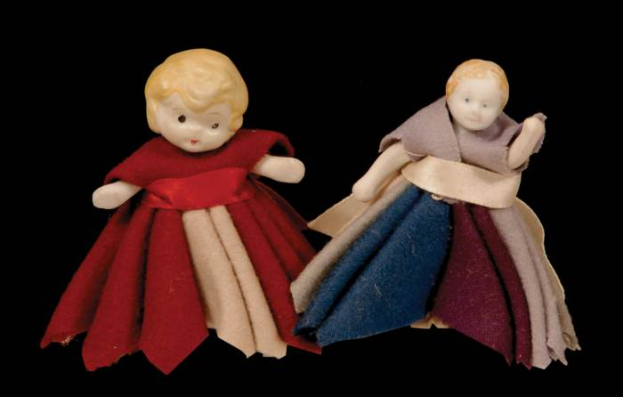 Lot 160: Two Pincushions and Two Penwipe Dolls