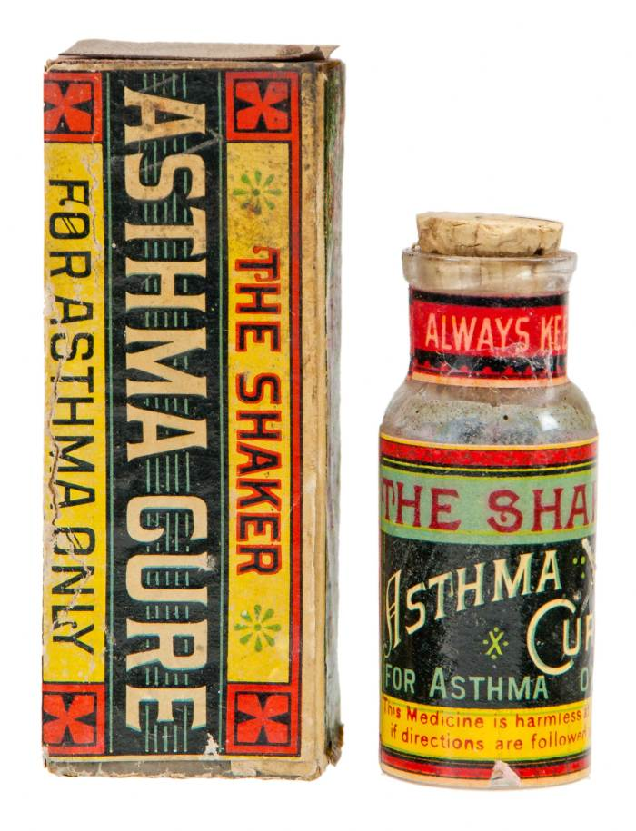 Lot 18: Asthma Cure Bottle and Box