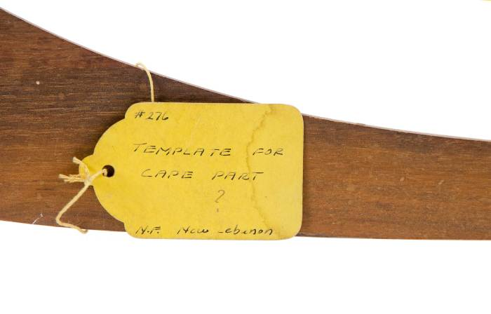 Lot 38: Rare Tailor's Template Rule and Template for a Cape