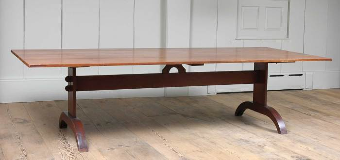 Lot 90: Trestle Table