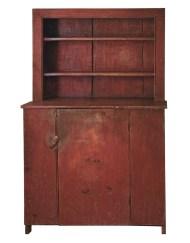 Lot 110: Early 19th C. Stepback Cupboard