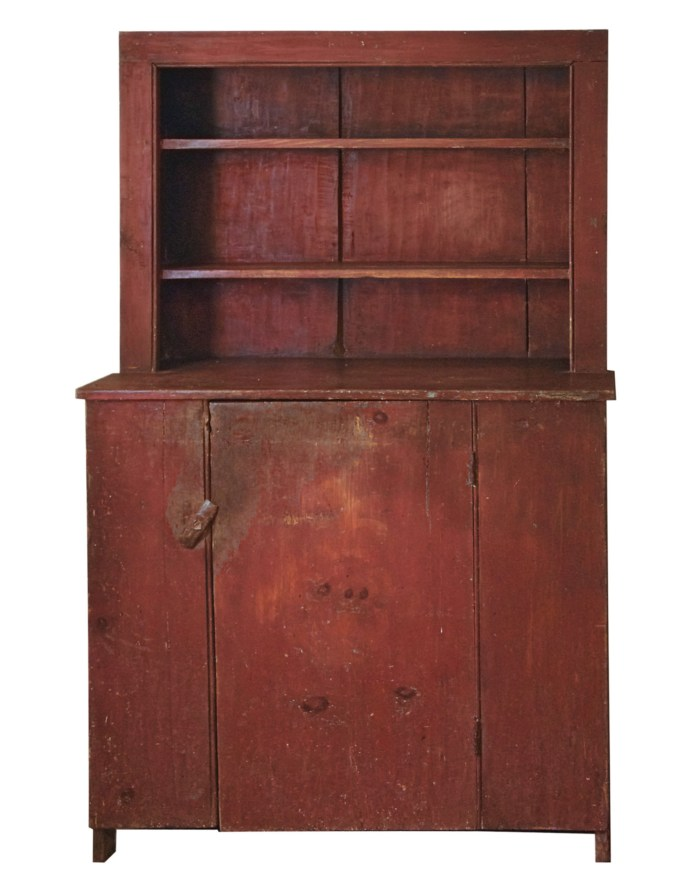Lot 110: Early 19th C. Stepback Cupboard