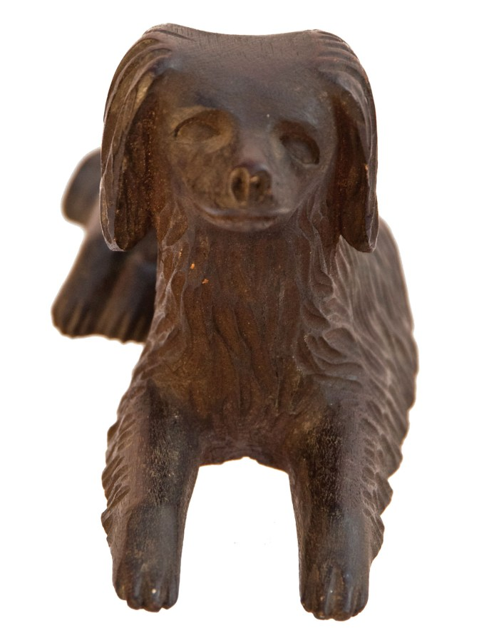 Lot 113A: Carved Spaniel