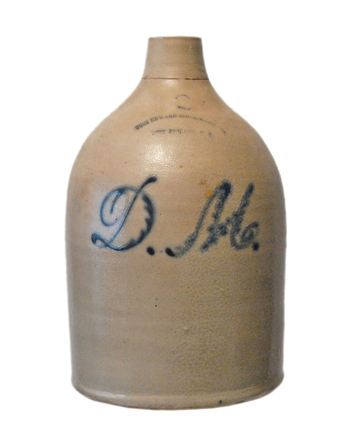 Lot 116: 19th C. Stoneware Jug