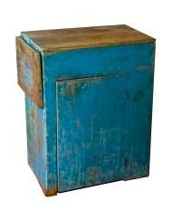 Lot 130: Blue Cupboard