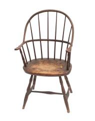 Lot 132: 18th C. New England Windsor Armchair