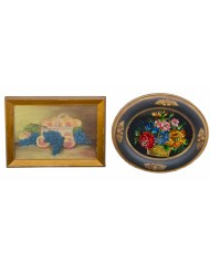 Lot 148: Two 19th C. Still Life Pictures
