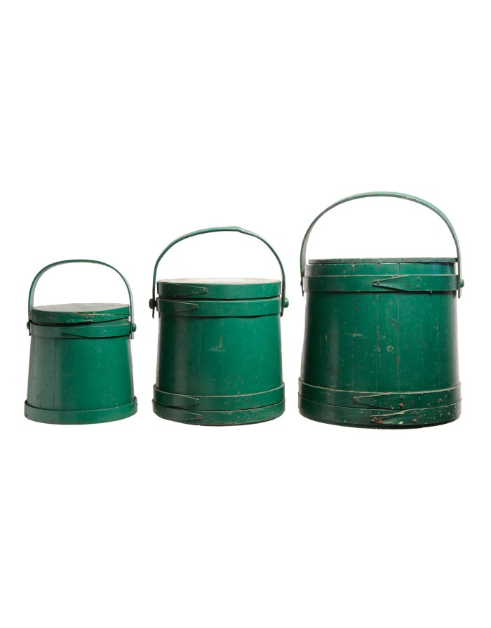 Lot 153: Three Hingham Buckets