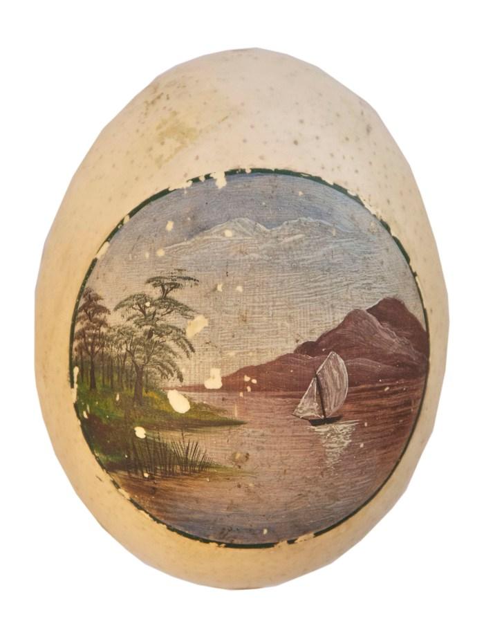 Lot 156: Boat Model, Ostrich Egg, Telescope