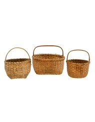 Lot 167: Three Over Handled Baskets